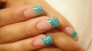 Little Blue Prom Nails Español Youtube