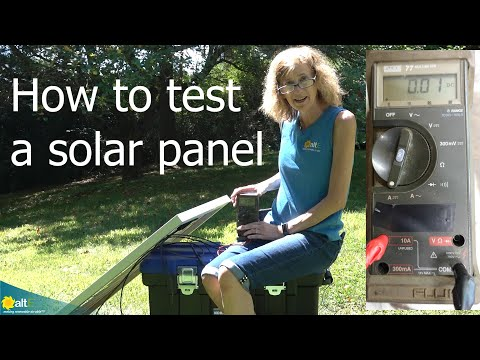 We walk you through testing both the volts and amps of a solar panel, and compare the readings with the standard test conditions (STC) rating of the panel to determine if the solar panel is performing correctly. A simple multimeter is required to read both