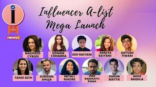 NewsX Influencer A-List   Mega Launch   Part 1    NewsX - NEWSXLIVE