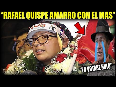 Eva Copa: en el cierre de campaña de Santos Quispe - Gobernación de La Paz