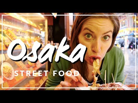 Japanese Street Food Tour in Osaka, Japan