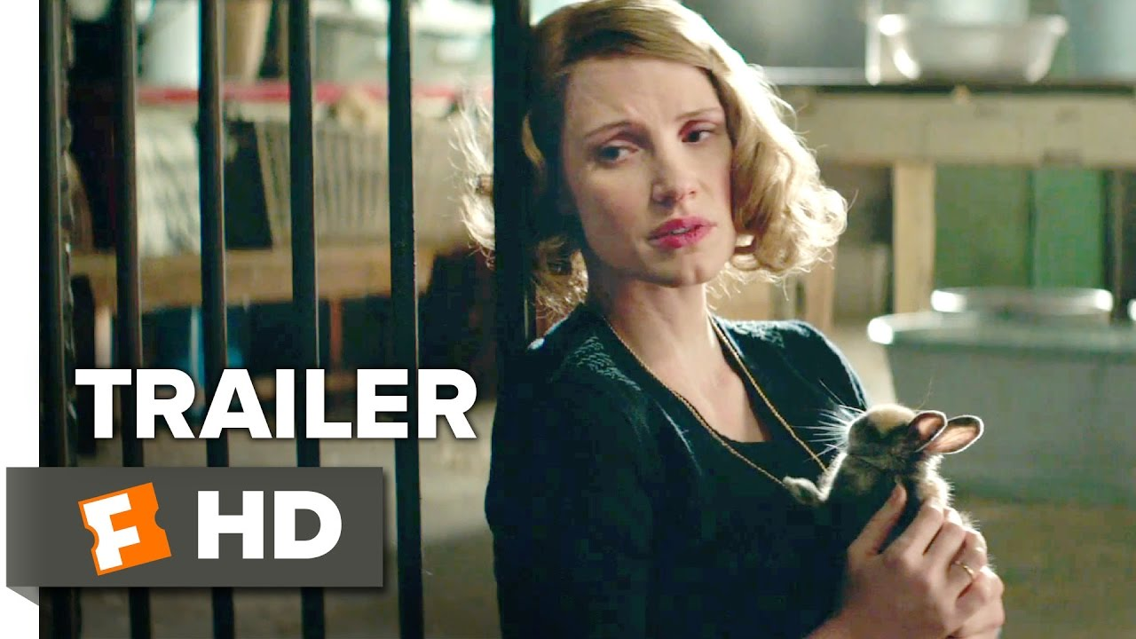 The Zookeeper's Wife Official Trailer 1 (2017) - Jessica Chastain Movie