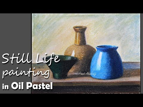 Realistic Still Life painting in Oil Pastel | Different Dishes step on