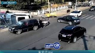 سائقة تتسبب بحادث مروع