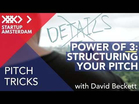 Pitch tricks #4 How to Structure your pitch - David Beckett - Amsterdam Capital Week Prep photo