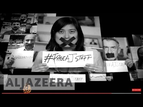 Top journalists join #FreeAJStaff campaign