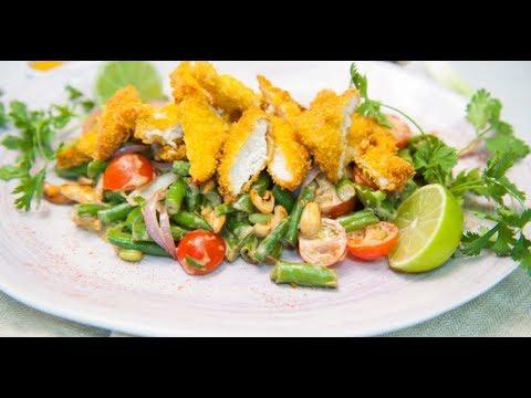 Тёплый салат с курицей | ТОП-100