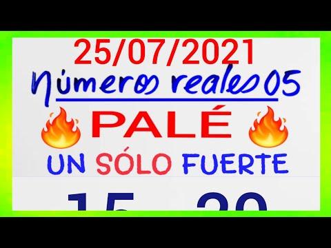 NÚMEROS PARA HOY 25/07/21 DE JULIO PARA TODAS LAS LOTERÍAS...!! Números reales 05 para hoy....!!