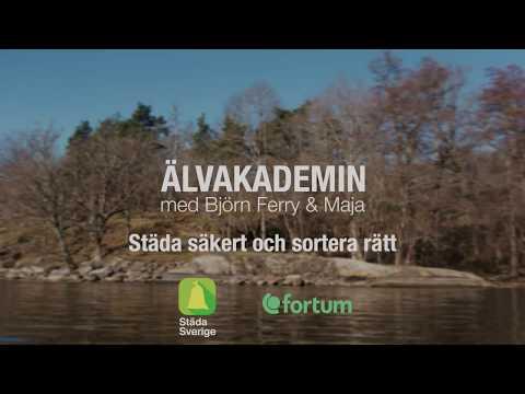 Älvakademin med Björn Ferry och Maja (2 av 4) Städa säkert och sortera rätt.