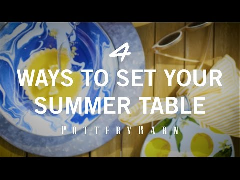 4 Ways to Set Your Summer Table
