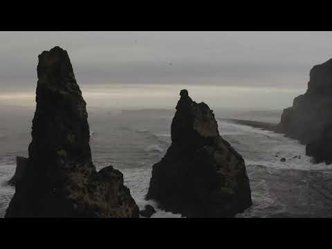 Reynisdrangar Sea Stacks, Iceland   Icelandair