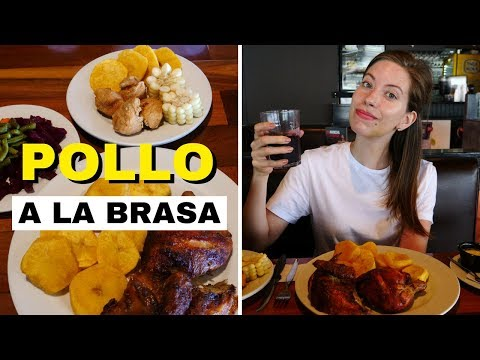 Classic Peruvian Food - Eating Pollo a la Brasa at Pardos Chicken in Lima, Peru