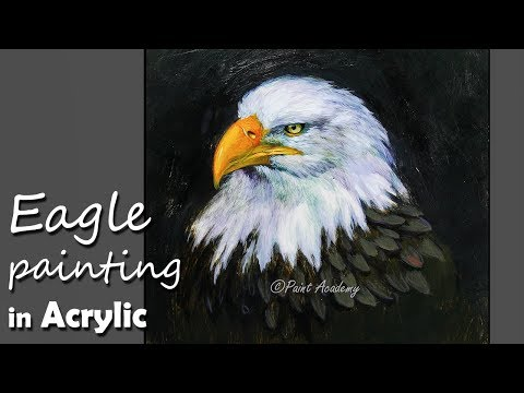 Acrylic Painting | How to Paint An Eagle, Painting Eagle Feathers step by step