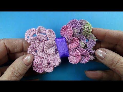 Галстук — бабочка Как сделать бантик Видео урок Красивые Вязаные бантики