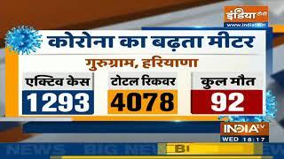 Gurugram में कोरोना मामलों की संख्या साढ़े पांच हजार के करीब, 92 लोगों ने गंवाई जान - INDIATV