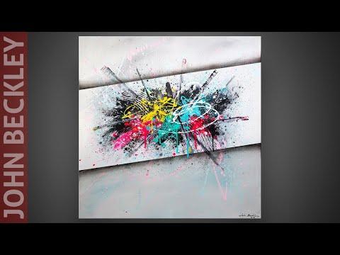 Art Abstrait - Démonstration à la peinture acrylique | Archive