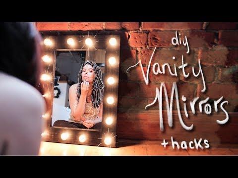 DIY Your Own Dream Vanity Mirror Setup 4 ways!!