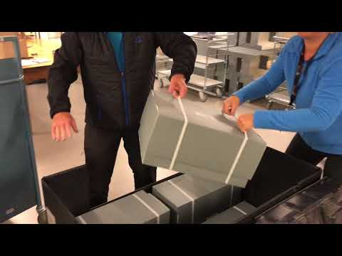 Branntakstprotokoller i statsarkivet i Trondheim pakkes ned
