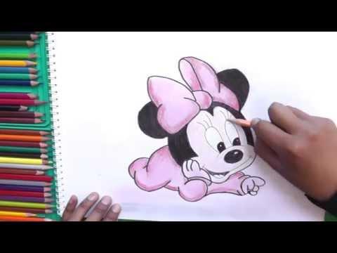 Excelente Bebé Mickey Y Minnie Para Colorear Colección - Páginas ...