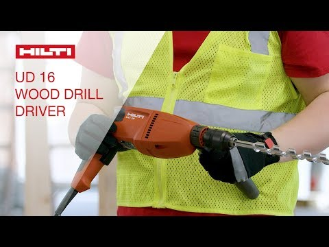 OVERVIEW of Hilti's UD 16 corded two-speed, high-torque drill driver