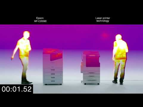 WorkForce Enterprise WF-C20590: Thermal imaging heat test
