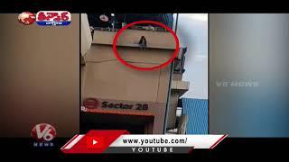 Cops Save Woman From Jumping Off Delhi Metro Station   V6 Teenmaar News - V6NEWSTELUGU
