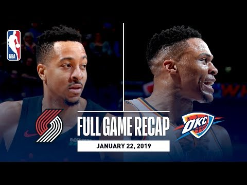Full Game Recap: Trail Blazers vs Thunder | Paul George & Russell Westbrook Combine For 65 Points