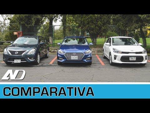 Hyundai Accent vs. Kia Rio vs. Nissan Versa - Comparativa (AD)