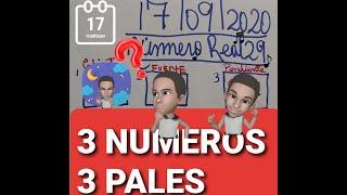 NUMEROS PARA HOY 17/09/2020 DE SEPTIEMBRE  PARA TODAS LAS LOTERIAS