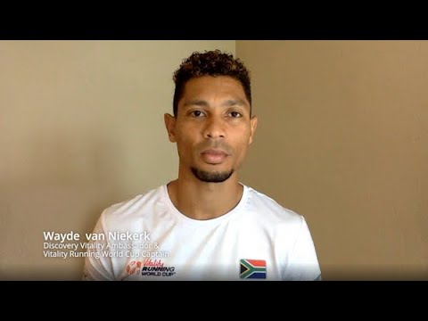 Wayde van Niekerk wants you to run for South Africa in the Vitality Running World Cup.