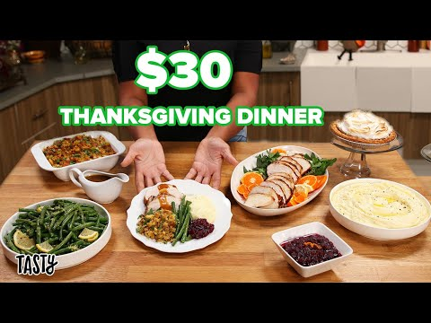 Can This Private Chef Make A Thanksgiving Meal For 6 For $30 ? Tasty
