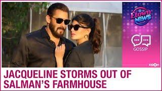 Jacqueline Fernandez LEAVES Salman Khan's farmhouse in a hurry for THIS reason - ZOOMDEKHO