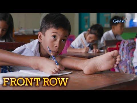 Front Row: Batang lumaki na walang mga kamay at braso, pursigidong makapagtapos ng pag-aaral