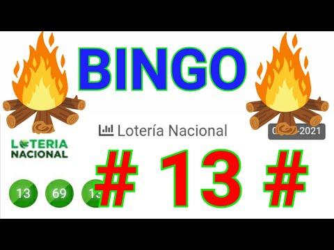 SORTEOS  de HOY loteria NACIONAL ((( 13 ))) BINGO...! PREMIOS REVELADO para HOY / UN SÓLO número hoy