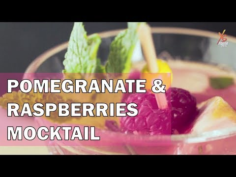 XS Power Drink - Pomegranate, raspberries and spearmint pink cocktail