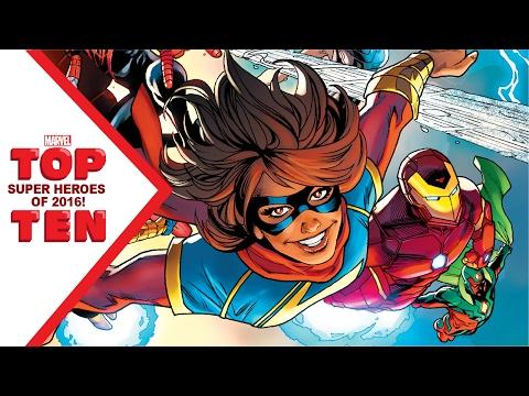 Marvel Top 10 Super Heroes of 2016!