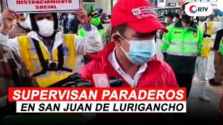 Coronavirus en el Perú: Supervisan medidas de bioseguridad en paraderos de SJL