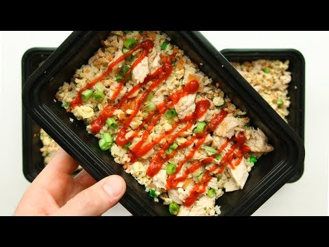 MEAL PREP | How To Meal Prep Chicken Fried Rice For The Week (Low Carb Recipe)