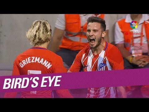 Revive el golazo de Saúl Ñíguez en el Atlético de Madrid vs FC Barcelona desde la cámara aérea