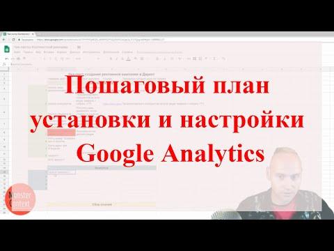 Пошаговый план установки и настройки Google Analytics