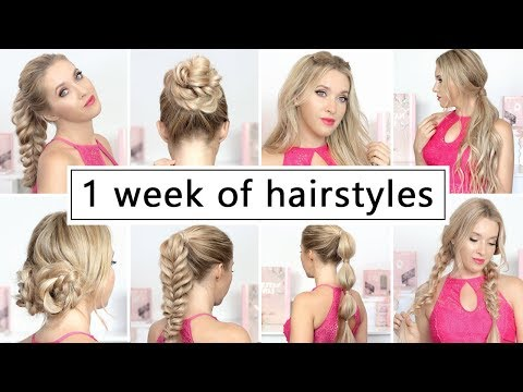 1 WEEK OF HAIRSTYLES for New Year's eve party, holidays ❤ Easy and quick hair tutorial
