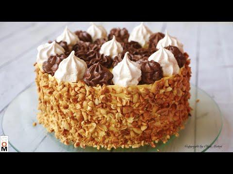 Торт «ПОЛЁТ» ✈️ с безе и орехами