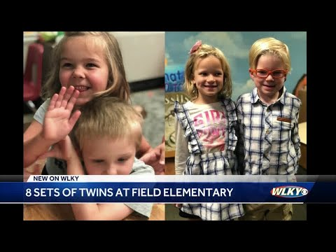 8 sets of twins attending school at Field Elementary