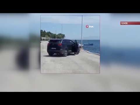 Lüks cipi denize attı! Hiçbir şey olmamış gibi yoluna devam etti
