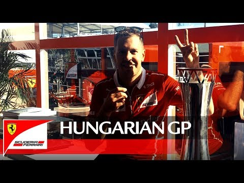 Hungarian Grand Prix - Seb?s words to the fans after the win