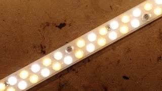 Colour temperature selectable LED strip.