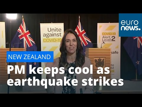 New Zealand PM Jacinda Ardern unfazed as earthquake hits during interview