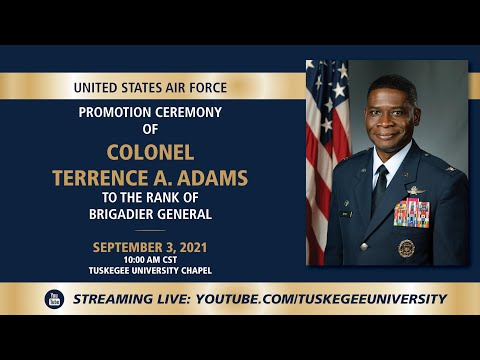 United States Air Force Promotion Ceremony of Colonel Terrence A. Adams.