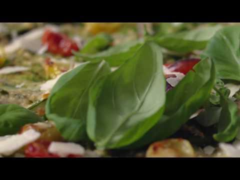 Pizza med ärtcrème