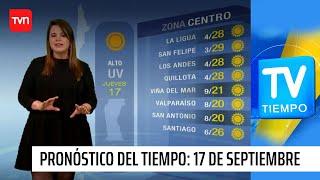 Pronóstico del tiempo: Jueves 17 de septiembre | TV Tiempo